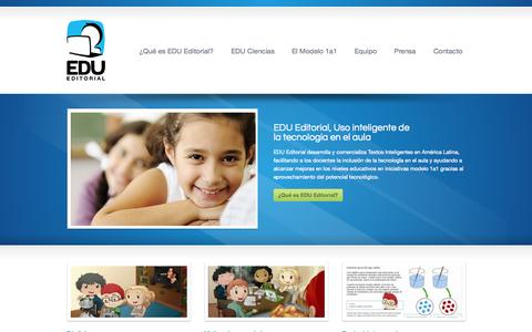 Screenshot of Home Page editorialedu.com - EDU Editorial - captured Jan. 23, 2015