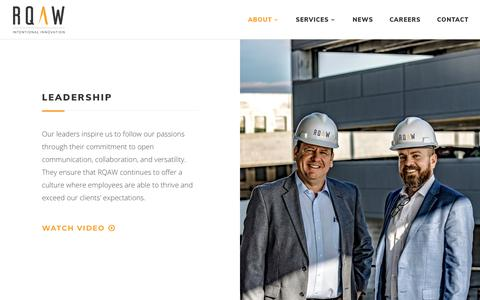 Screenshot of Team Page rqaw.com - Leadership | RQAW | Engineering and Architecture Firm - captured Nov. 19, 2018