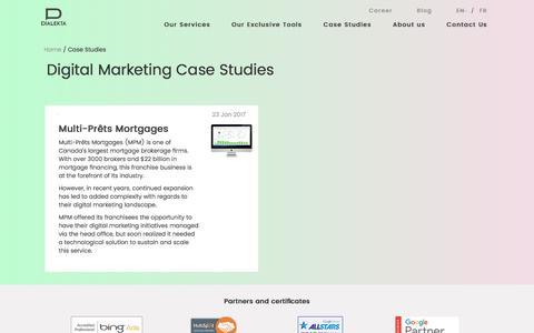 Screenshot of Case Studies Page dialekta.com - Case Studies in Digital Marketing   Dialekta - captured June 4, 2017