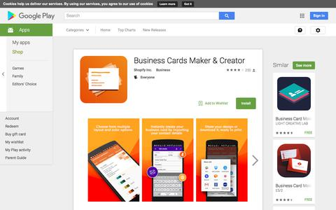Business Cards Maker & Creator - Android Apps on Google Play