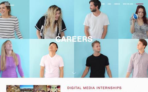 Screenshot of Jobs Page digitalmediamanagement.com - Digital Media Management Jobs - captured Aug. 2, 2016