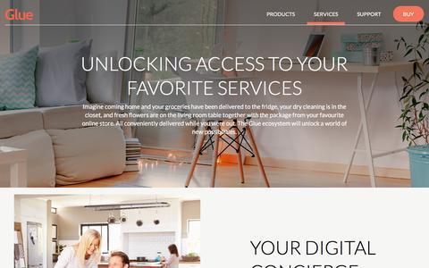 Screenshot of Services Page gluehome.com - Glue Home - Services - captured Nov. 10, 2016