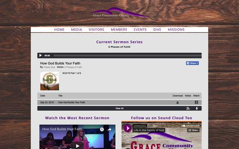 Screenshot of Press Page graceconnect.com - MEDIA - Grace Community Church - captured Sept. 30, 2018