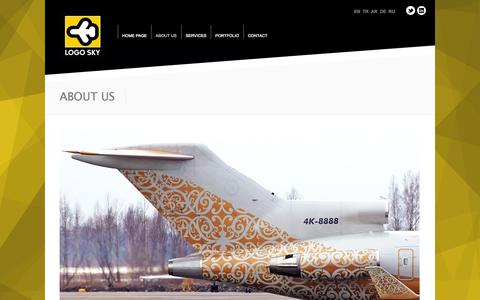 Screenshot of About Page logo-sky.com - ABOUT US | LOGO SKY - captured Oct. 3, 2014