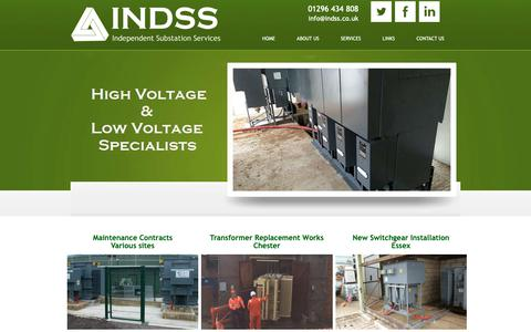 Screenshot of Case Studies Page indss.co.uk - Projects | Independent Substation Services Ltd - captured Oct. 11, 2018