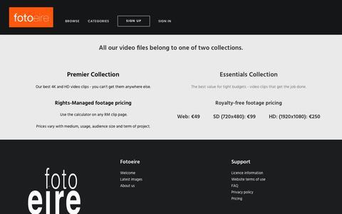 Screenshot of Pricing Page fotoeire.com - Pricing | Fotoeire - captured June 6, 2017