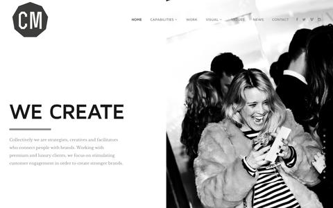 Screenshot of Home Page collective-minds.com - Collective Minds - Connecting people with brands - captured July 5, 2016