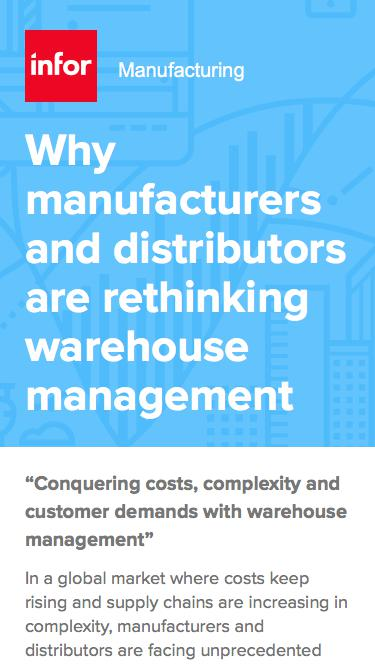Why manufacturers and distributors are rethinking warehouse management