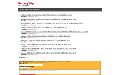 Screenshot of Blog mercurytrip.com - AboutUs - MercuryTrip @ 510.573.5053 : MercuryTrip @ 510.573.5053 - captured Sept. 20, 2018