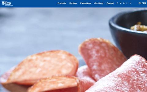 Screenshot of Terms Page pillers.com - Piller's Fine Foods - captured Jan. 28, 2016
