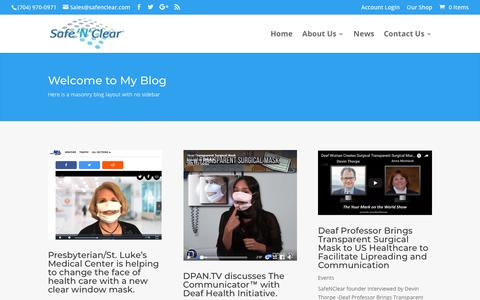 Screenshot of Press Page safenclear.com - News | Safe'N'Clear - captured Nov. 17, 2018