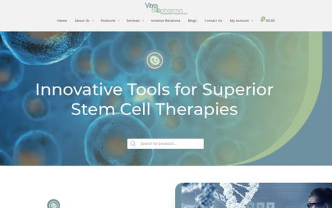 Screenshot of Home Page vitrobiopharma.com - Home - Vitro Biopharma - captured Nov. 7, 2018