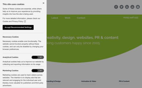 Screenshot of Services Page happy-creative.co.uk - Marketing Agency Services | Happy Creative Limited - captured Sept. 27, 2018