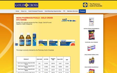 Screenshot of Products Page goldx.com.au - Gold Cross - captured Oct. 3, 2014