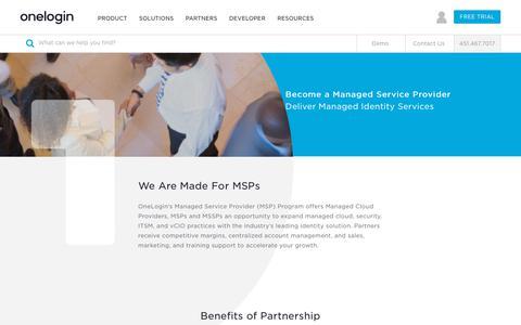 OneLogin MSP Program - Managed Service Provider