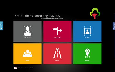 Screenshot of Home Page yrsintuitions.com - Yrs Intuitions Consulting Pvt Ltd | Social Media Chennai - captured Oct. 9, 2014