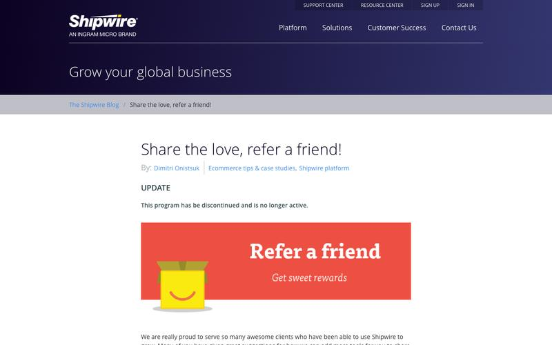 Share the love, refer a friend!