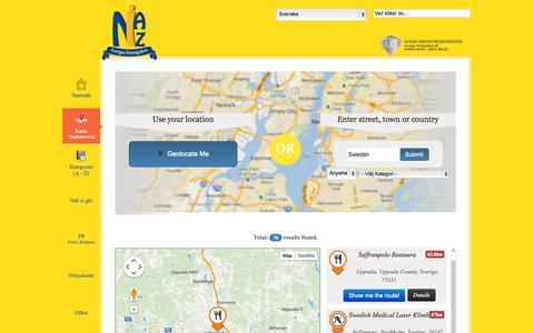 Screenshot of Maps & Directions Page niaz.se - Kartor, vägbeskrivningar, flygfoton, sjökort  mycket mer på niaz.se - Gula Sidorna på Niaz.se - captured Sept. 25, 2014