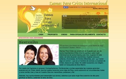 Screenshot of Home Page dpci.org - Damas Para Cristo Internacional - captured April 5, 2016