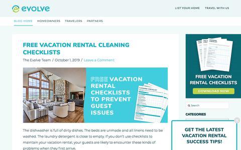Screenshot of Blog evolvevacationrental.com - Evolve Vacation Rental – Vacation Rental Management Has Been Redefined - captured Nov. 5, 2019