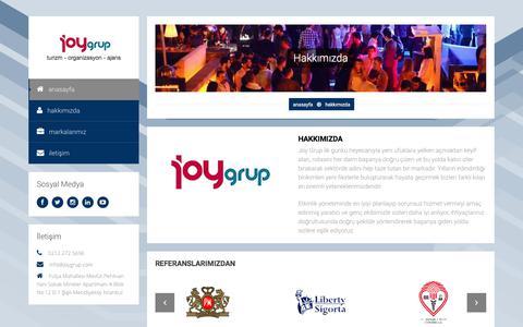 Screenshot of About Page joygrup.com - Joy Grup   Hakkımızda - captured July 15, 2017