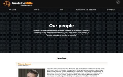 Screenshot of Team Page austubemills.com - Our people | Austube Mills - captured Oct. 4, 2014