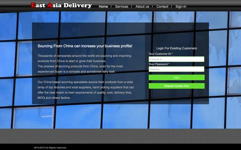 Screenshot of Login Page ea-delivery.com - EA Delivery - Find the right supplier, Get Direct pricing & Import from china with our Sourcing Services - captured March 29, 2016