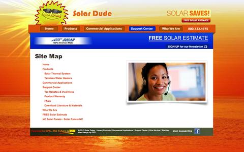Screenshot of Site Map Page gpsupplyco.com - Sitemap - Tankless Water Heaters in NC, Thermal Solar Panels for Greensboro, Charlotte & Raleigh, NC - captured Oct. 3, 2014