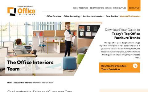 Screenshot of Team Page officeinteriors.ca - Our Team | Office Interiors - captured Sept. 20, 2018