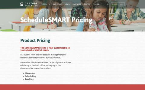 Screenshot of Pricing Page capture-education.com - ScheduleSMART Pricing - captured Aug. 24, 2016