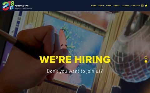 Screenshot of Jobs Page super78.com - Careers — Super 78 Studios - captured Nov. 29, 2018