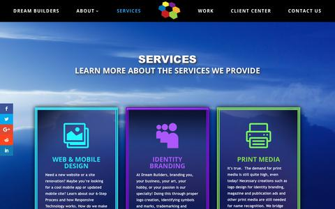 Screenshot of Services Page dreambuilders.co - Website Design - Marketing Services - The Dream Builders Company - captured Oct. 18, 2018