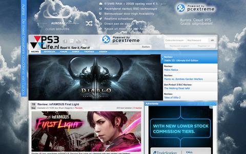 Screenshot of Home Page ps3life.nl - PS3Life - Dé Nederlandse PlayStation 3, PlayStation 4, PSP & PS Vita Community • Nieuws, Screenshots, Trailers - captured Sept. 22, 2014
