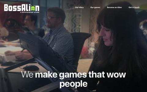Screenshot of Home Page bossalien.com - BossAlien - BossAlien - captured Nov. 13, 2018