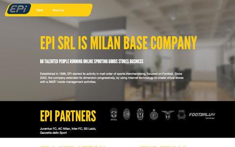 Screenshot of About Page episrl.it - EPi srl - captured Sept. 26, 2014