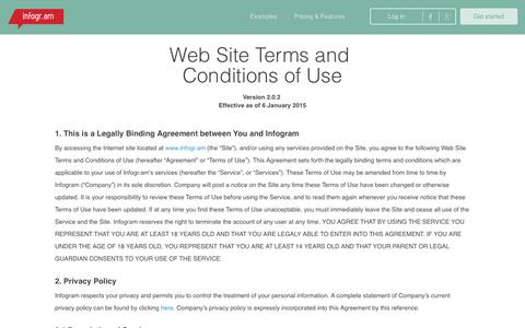 Screenshot of Terms Page infogr.am - Terms and Conditions   infogr.am - captured Dec. 3, 2015