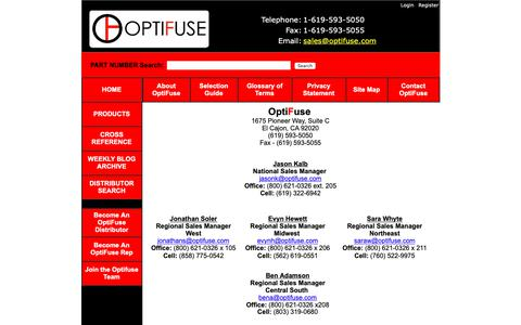 Screenshot of Contact Page optifuse.com - OptiFuse - Contact Page - captured March 30, 2019
