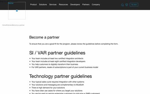 MuleSoft   Become a Partner
