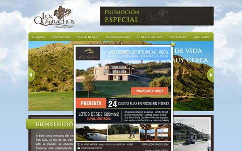 Screenshot of Home Page losquebrachos.com - Country en San Luis Golf Los Quebrachos Country Golf - captured March 3, 2016