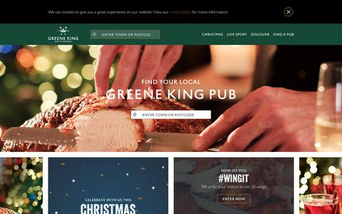 Screenshot of Home Page greeneking-pubs.co.uk - Greene King Local Pubs | Find your local Greene King pub - captured Nov. 14, 2018