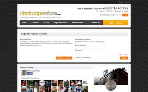 Screenshot of Login Page photocopierstore.com - Customer Login - captured Oct. 2, 2014