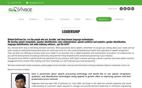 Screenshot of About Page govivace.com - Leadership | Govivace - captured Sept. 29, 2018