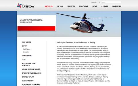 Screenshot of About Page bristowgroup.com - Offshore Helicopters - Helicopter Transport Service – Heli Transport – Transportation Helicopter - bristowgroup.com - captured Jan. 31, 2016