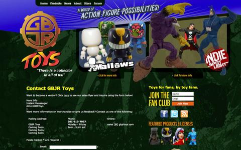 Screenshot of Contact Page gbjrtoys.com - Contact GBJR Toys - captured Sept. 19, 2014