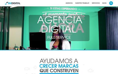 Screenshot of Home Page smdigital.com.co - SM Digital: Agencia de Marketing Digital - captured March 17, 2018