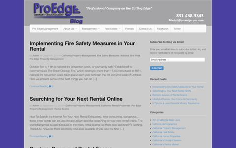Screenshot of Blog proedge-pm.com - ProEdge Property Management - Just another WordPress site - captured Nov. 2, 2014