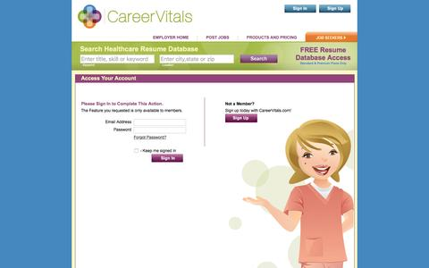 Screenshot of Jobs Page careervitals.com - Employer Manage Jobs - CareerVitals.com Healthcare Job Board - Post Jobs for Free - captured Dec. 7, 2015