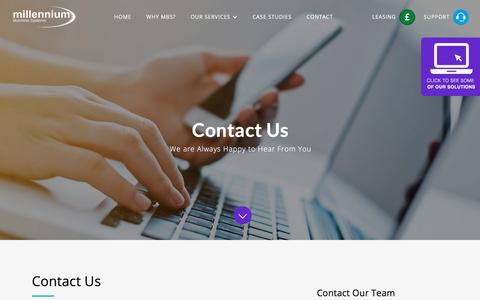Screenshot of Contact Page mbsavit.co.uk - Contact Us - Millennium Business Systems - captured Sept. 20, 2017