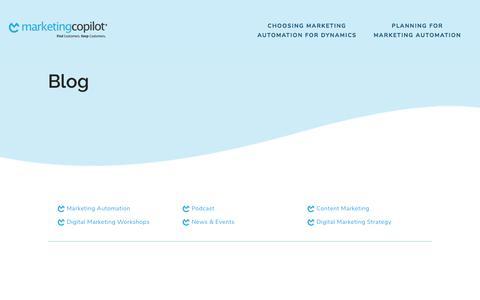 Screenshot of Blog marketingcopilot.com - Blog - Marketing Copilot - captured Nov. 4, 2019
