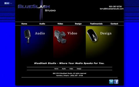 Screenshot of Home Page blueslashstudio.com - BlueSlash Studio - captured Sept. 30, 2014